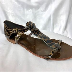 J Crew Dark Cheetah Print Sandals